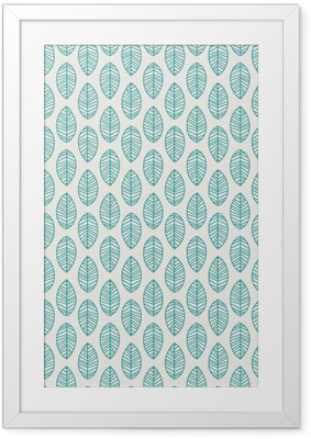 seamless pattern with leaves Framed Poster