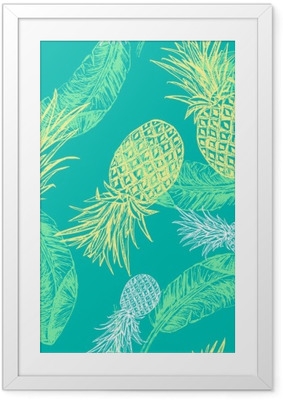 Tropical seamless pattern Framed Poster