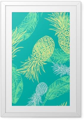 Poster en cadre Seamless Tropical.