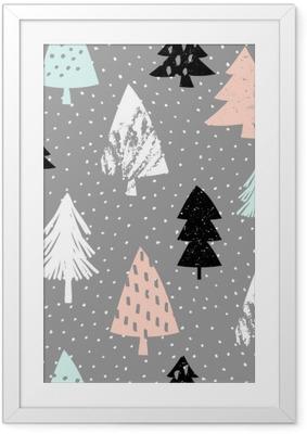 Gerahmtes Poster Seamless christmas pattern