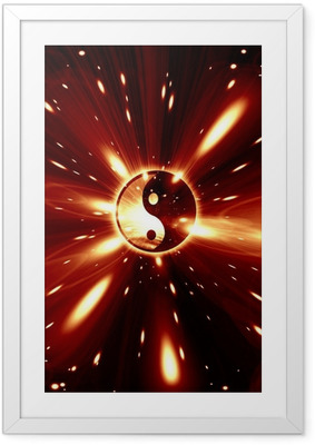 Poster en cadre Yin Yang signe