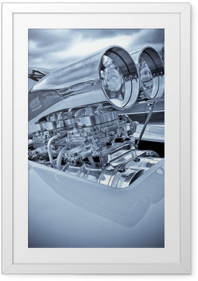 Gerahmtes Poster Verchromten Performance Auto Lader