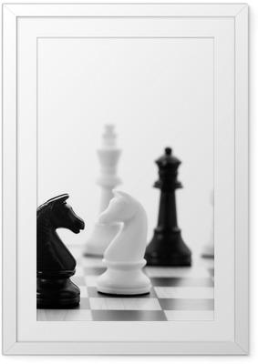 Schachspiel Framed Poster