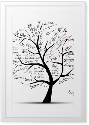 Math tree for your design Framed Poster