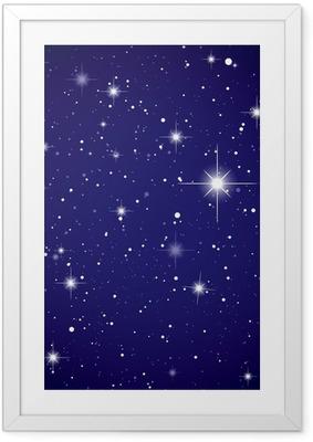 Poster in Cornice Spazio vista stella cielo