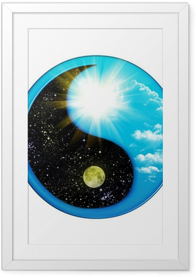 Dual Concepts Of Yin And Yang Describes Two Primal Opposing . .. Framed Poster
