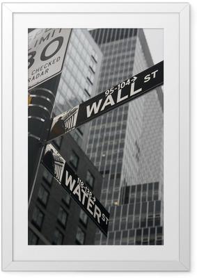 Plakat w ramie New York Wall Street
