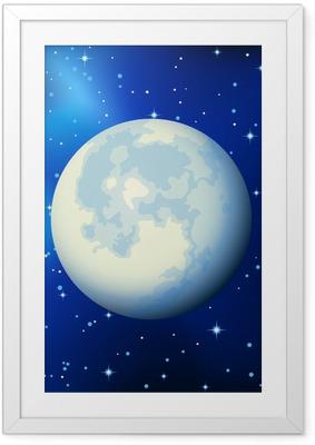 Plakat w ramie Księżyc