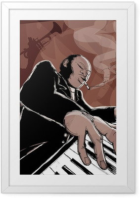 Gerahmtes Poster Jazzband