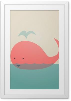 Plakat w ramie Śliczne Whale
