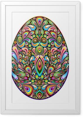 Easter Egg Psychedelic Art Design Uovo di Pasqua Ornamentale Framed Poster