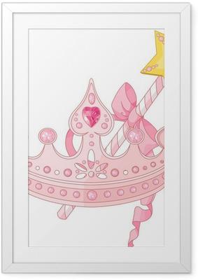 Poster in Cornice Principessa corona e bacchetta magica