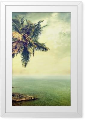 Tropical island Framed Poster