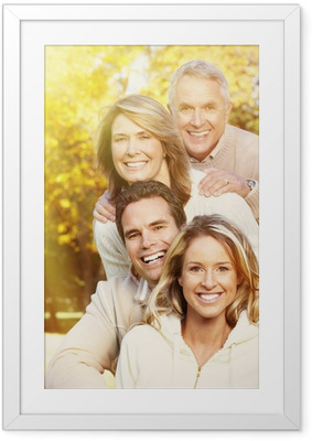 Happy family portrait. Framed Poster