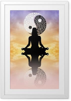 Yin Yang Framed Poster