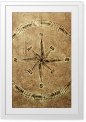 Gerahmtes Poster Old Compass