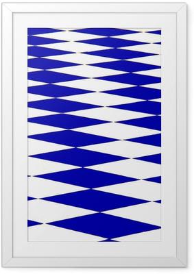 Gerahmtes Poster Echiquier bleu