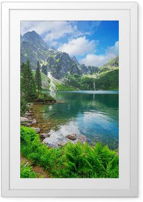 Ingelijste Poster Oog van de zee meer in Tatra gebergte, Polen