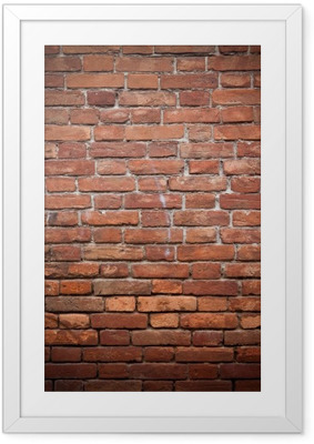 Ingelijste Poster Oude grunge rode bakstenen muur textuur