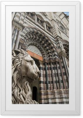 Poster in Cornice Cattedrale di San Lorenzo - Genova Italia