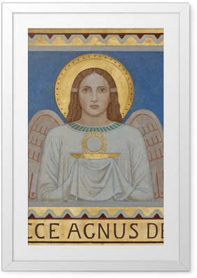Poster en cadre Vienne - Fresque de l'ange symbolique de l'Eucharistie