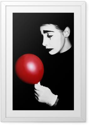 Poster en cadre Sad mime interprète Pantomime
