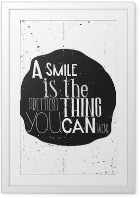 Çerçeveli Poster Her gün basit Şık motivasyon afiş,