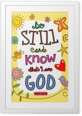 Poster en cadre Bible Verse Art - Religion