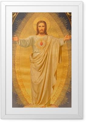 Plakat w ramie Wiedeń - Serce Jezusa malować na ołtarzu kościoła Sacre Coeur
