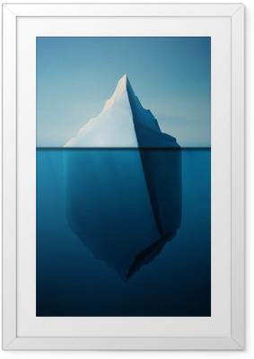 Poster in Cornice Solitario Iceberg