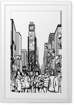 Interpretation of Times Square in New York Framed Poster
