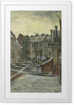 Vincent van Gogh - Backyards of Old Houses in Antwerp Framed Poster