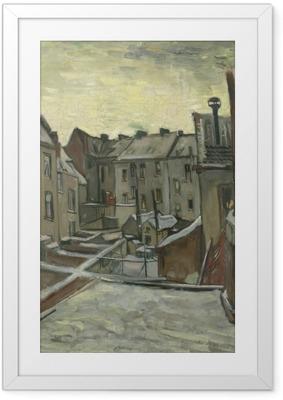 Plakát v rámu Vincent van Gogh - Backyards starých domů v Antverpách