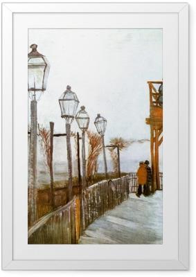 Ingelijste Poster Vincent van Gogh - Uitzichtspunt op Montmartre