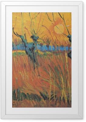 Poster en cadre Vincent van Gogh - Saules au soleil couchant - Reproductions