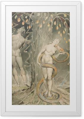 Gerahmtes Poster William Blake - Evas Versuchung und Sündenfall