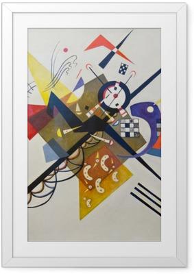 Gerahmtes Poster Wassily Kandinsky - Auf Weiß II