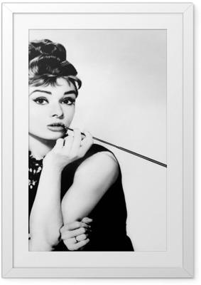 Gerahmtes Poster Audrey Hepburn