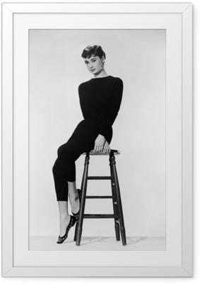 Ingelijste Poster Audrey Hepburn