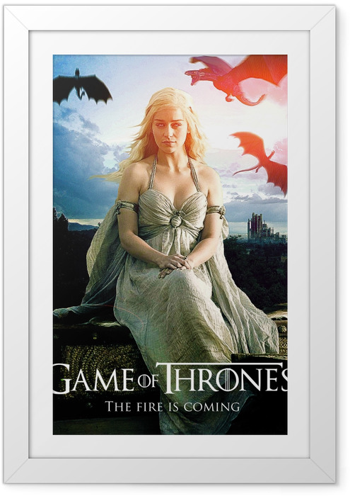 Daenerys Targaryen Indrammet plakat -