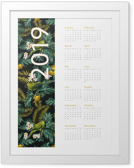 Poster en cadre Calendrier 2019 - automne -