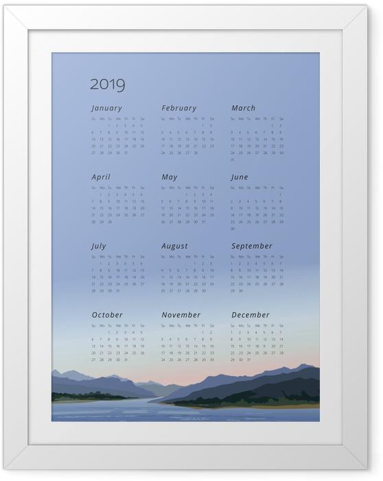 Çerçeveli Poster Takvim 2019 - sakinleştirin -