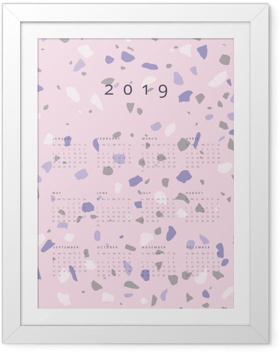 Çerçeveli Poster Takvim 2019 - lastryko -