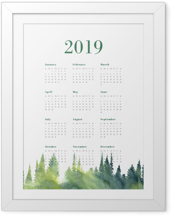 Gerahmtes Poster Kalender 2019 – Wald -
