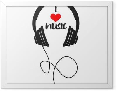 Poster i Ram Jag älskar musik