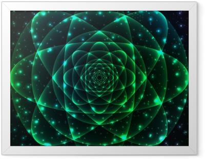 Sacred geometry symbol. Mandala mystery element Framed Poster