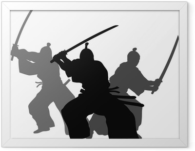 Poster en cadre Samourais