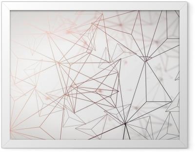 Çerçeveli Poster Hafif poligonal arka plan