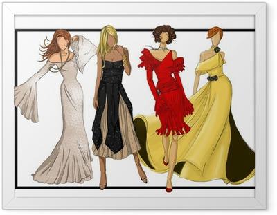Gerahmtes Poster Mode-Design-Gruppe