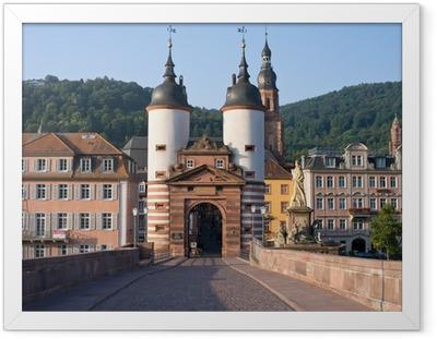Gerahmtes Poster Wahrzeichen Heidelberg